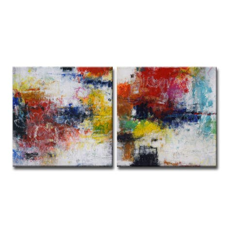 'Rejuventated I/II' 2 Pc Wrapped Canvas Wall Art Set by Norman Wyatt Jr.