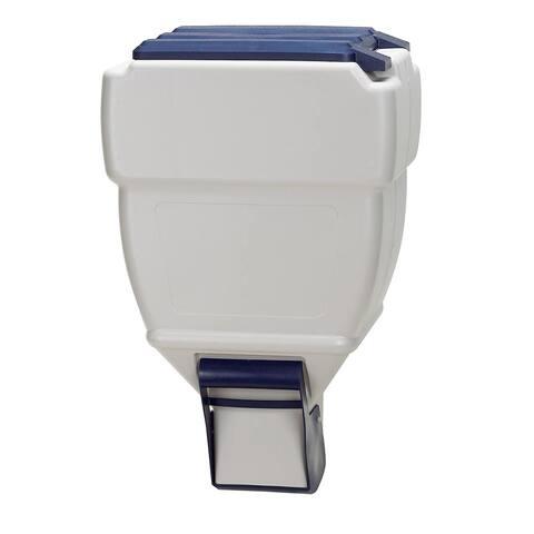 "Bergan Wall Mounted Pet Food Dispenser - Gray / Blue - 25"" x 10"" x 15"""