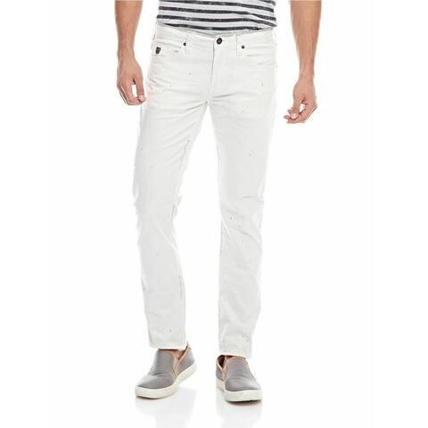 Buffalo David Bitton White Mens 33X32 Slim Skinny Stretch Jeans