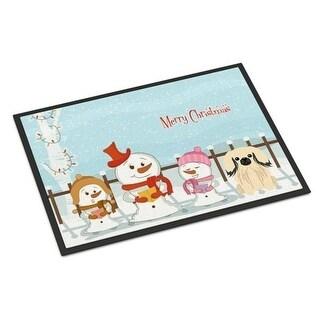 Carolines Treasures BB2437JMAT Merry Christmas Carolers Pekingnese Cream Indoor or Outdoor Mat 24 x 0.25 x 36 in.