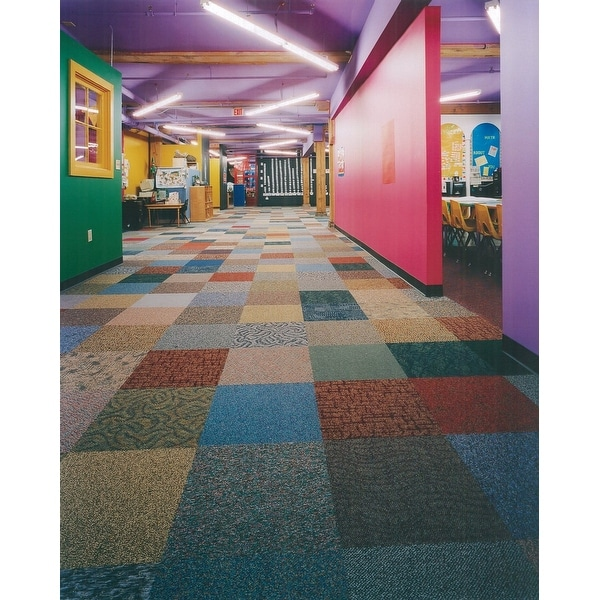 """Mohawk Industries EQ294 Filby 24"""" x 24"""" Assorted Square Tufted Loop Carpet Tile with T3 Ecoflex ICT backing - Sold by Carton"""