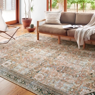 Link to Alexander Home Sophia Printed Botanical Vintage Area Rug Similar Items in Rugs