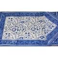 Handmade Floral Rajasthan Block Print Tablecloth 100% Cotton Rectangular Square Round Napkins - Thumbnail 11