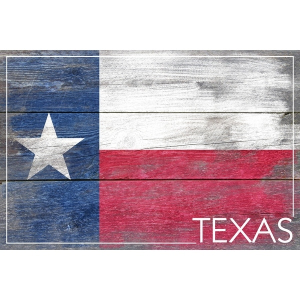 Rustic Texas State Flag - LP Artwork (Acrylic Wall Clock) - acrylic wall clock