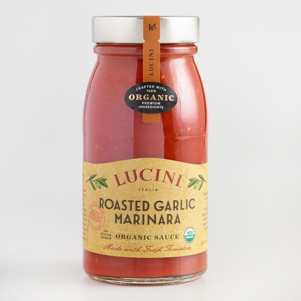 Lucini Italia Tuscan Marinara with Roasted Garlic Tomato Sauce - Case of 6 - 25.5 Fl oz.