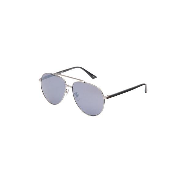 e2f8cf4fde83d Shop Gucci Gg0043Sa-002 Aviator Sunglasses Gold Grey Lens - Gold - One size  - Free Shipping Today - Overstock.com - 24266498