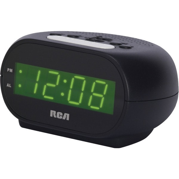 "Rca Rcd20 Alarm Clock With .7"" Green Display"