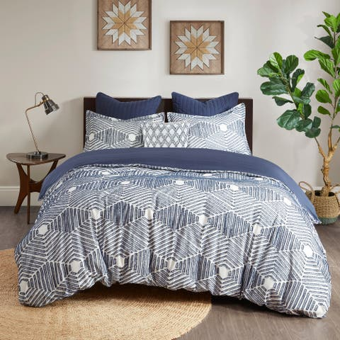 The Curated Nomad Latia Cotton Jacquard Comforter Set