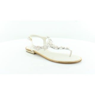 f64340393951 Shop Michael Kors Tricia Thong Women s Sandals ECRU - 8.5 - Free Shipping  Today - Overstock - 26949124