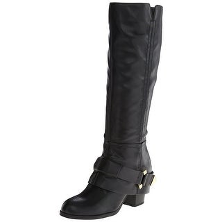 Fergie Womens Theory Leather Almond Toe Knee High Fashion Boots Fashion Boots