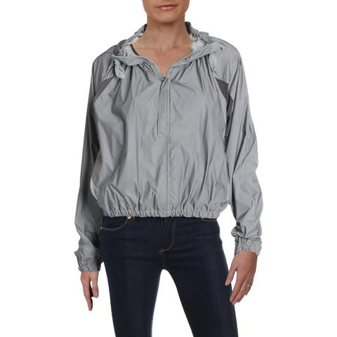 Free People Womens Athletic Jacket Reflective Casual