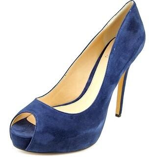 Vince Camuto Lorimina Women Open Toe Suede Blue Platform Heel