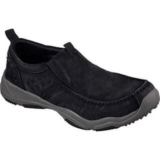 Skechers Mens Larson Bolten Slip-On,Black/Charcoal,US 7.5 M - Black / Charcoal