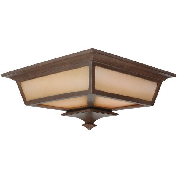 Craftmade Z1317 Argent 2-Light Flush Mount Ceiling Fixture - Aged Bronze - n/a