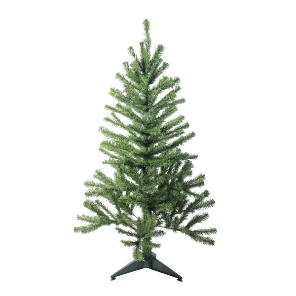 4' Canadian Pine Artificial Christmas Tree - Unlit - green