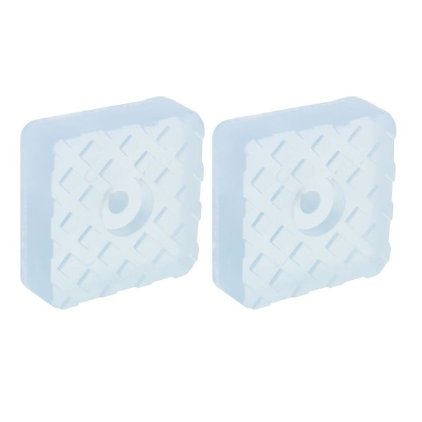 2pcs Square Rubber Feet Leg Pad Anti Scratch For Desk Floor Protector 22x22mm Clear