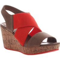 Madeline Women's Dusky Wedge Sandal Warm Red Textile/Synthetic