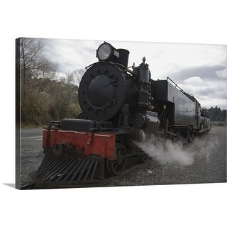 """Old steam train working in Taihape, New Zealand"" Canvas Wall Art"