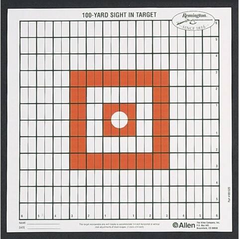 Allen 1520 allen grid style 100 yd sight in target w/orange centr 12-pk