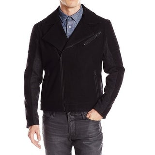 Kenneth Cole Reaction NEW Black Mens Size Large L Moto Wool Jacket