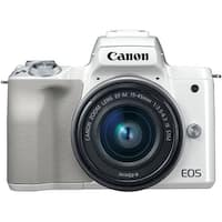 Canon EOS M50 15-45mm f/3.5-6.3 IS STM Mirrorless Digital Camera (White)