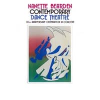 ''Nanette Bearden Contemporary Dance Theatre 10th Anniversary'' by Romare Bearden African American Art Print (30 x 20 in.)