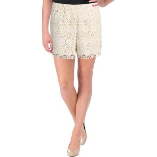 Aqua Womens Dress Shorts Lace Embroidered