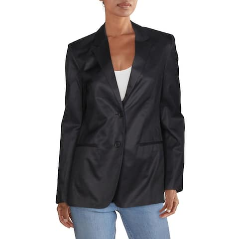 Helmut Lang Womens Two-Button Blazer Business Office - Ink