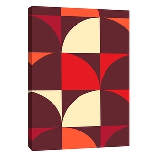 "PTM Images 9-108747  PTM Canvas Collection 10"" x 8"" - ""Monochrome Patterns 9 in Red"" Giclee Abstract Art Print on Canvas"