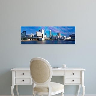 Easy Art Prints Panoramic Images's 'Buildings at the waterfront, Cleveland, Ohio, USA' Premium Canvas Art