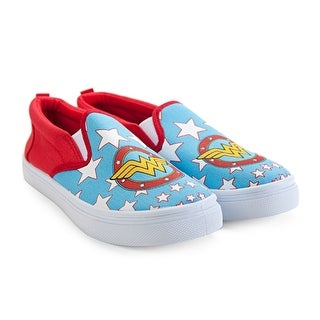 Women's Slip On Sneakers, Flats Wonder Woman S, M ,L ,XL