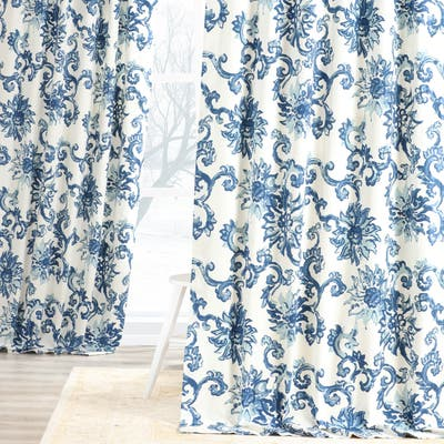 Exclusive Fabrics Indonesian Printed Cotton Twill Curtain Panel