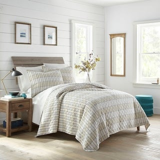 Link to Stone Cottage Earl Grey Check Navy Cotton Quilt Set Similar Items in Quilts & Coverlets
