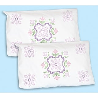 Stamped Pillowcase Shams 2/Pkg-XX Colonial