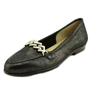 Amalfi By Rangoni Oste Women  Pointed Toe Leather Black Loafer
