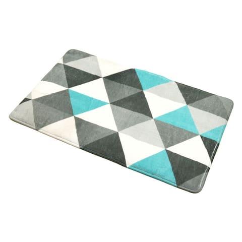 "Bathroom Rug Memory Foam Mat Nordik Print Grey 30""L x 18""W"
