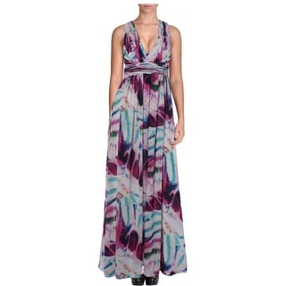 Aidan Mattox Womens Maxi Dress Chiffon Cut-Out