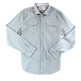 Calvin Klein NEW Grey Mens Size Large L Long Sleeve Button Down Shirt