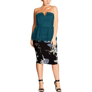 City Chic Womens Corset Top Strapless Bustier