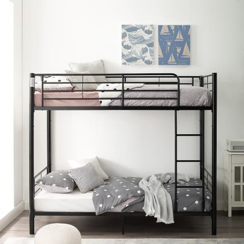 Taylor & Olive Abner Black Metal Twin over Twin Bunk Bed