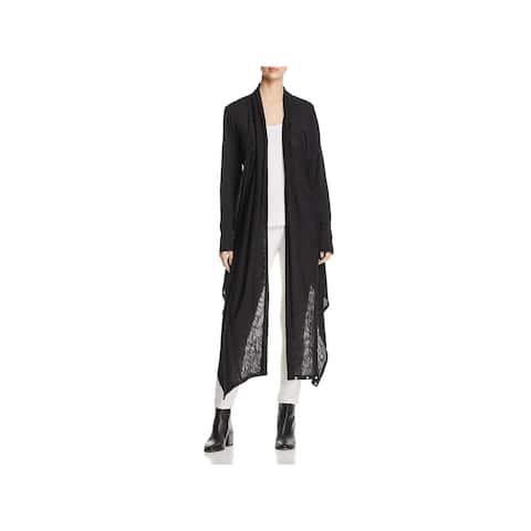 Elan Womens Cardigan Top Asymmetric Open Front