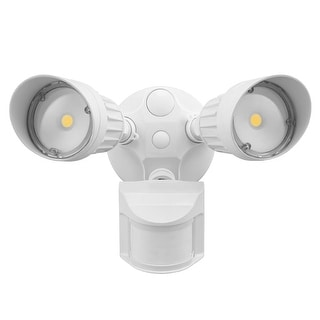 Motion-Activated LED Outdoor Security Light, 3000K, White