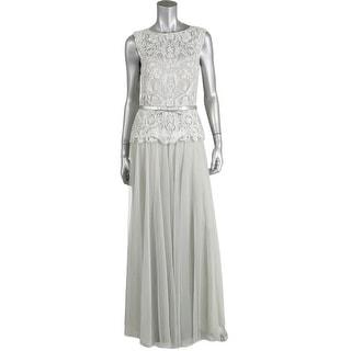 Tadashi Shoji Womens Formal Dress Chiffon Metallic - 14