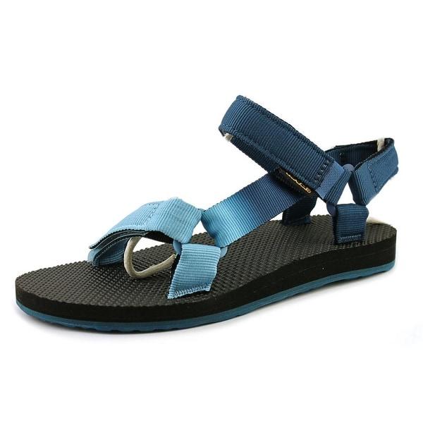 Teva Original Universal Gradient Women Open-Toe Canvas Blue Sport Sandal