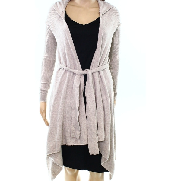7722b64ca Free People NEW Beige Womens Size XS Open Front Hooded Cardigan Sweater