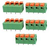 5pcs KF142 400V 15A 7.68mm Pitch 4P Green Spring Terminal Block for PCB Mounting