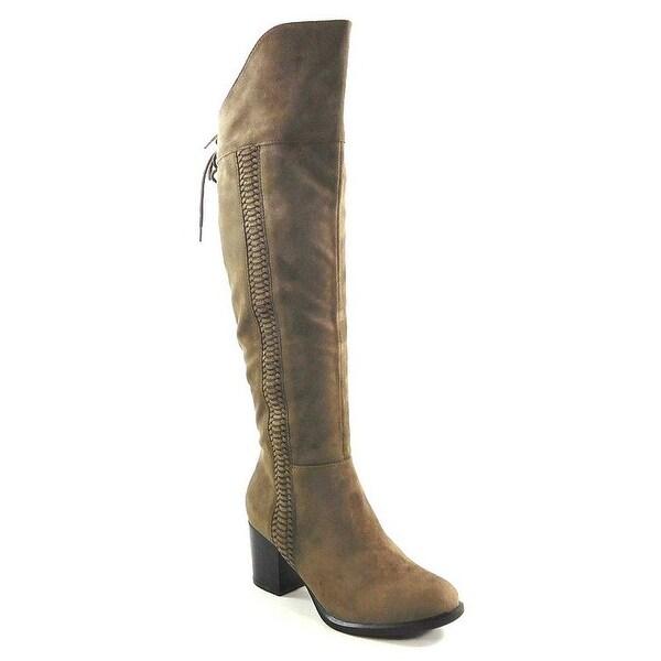 American Rag Womens Leonna Closed Toe Over Knee Fashion Boots, Truffle, Size 5.0