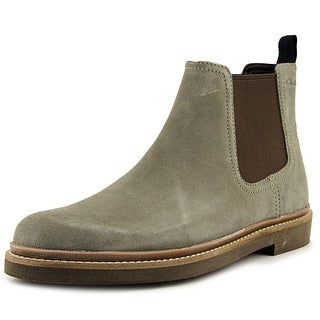 Clarks Bushacre Up Men  Round Toe Suede Gray Boot