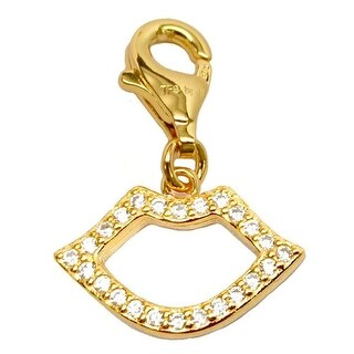 Julieta Jewelry Lips Gold Sterling Silver Charm