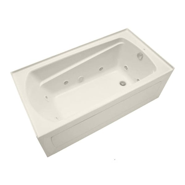 """Mirabelle MIRBDT6032L Bradenton 60"""" X 32"""" Three-Wall Alcove Total Massage Tub with Left Hand Drain"""
